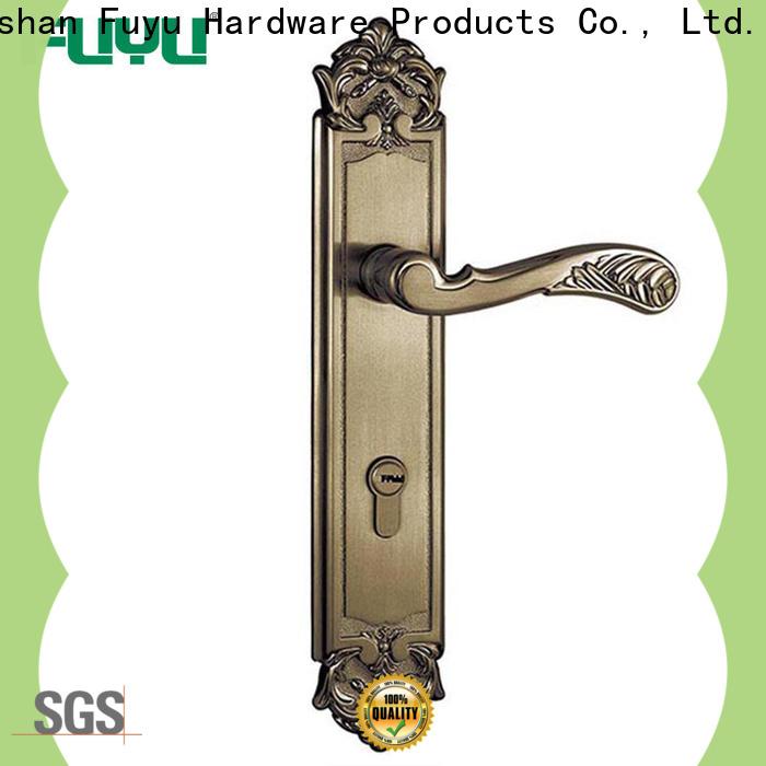 FUYU quality zinc alloy door lock for wood door on sale for shop
