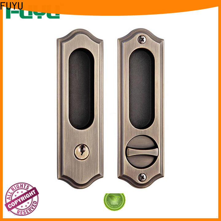 FUYU high quality heavy duty sliding door lock supplier for home