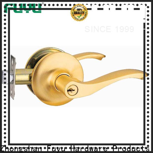 FUYU selling zinc alloy door lock for metal door with latch for shop