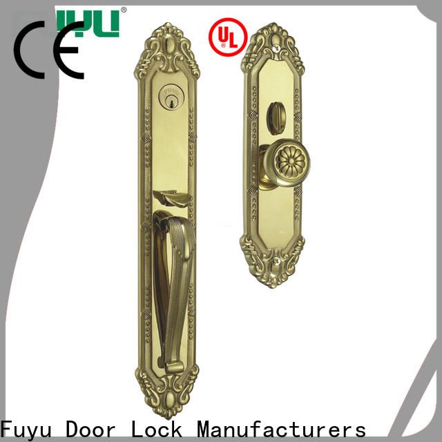 FUYU durable brass entry door locksets on sale for mall