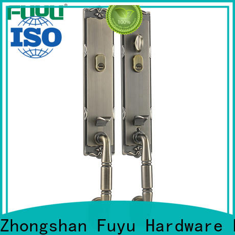 FUYU custom zinc alloy handle door lock on sale for shop