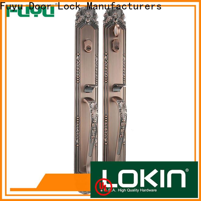 FUYU handle door lock manufacturer for wooden door
