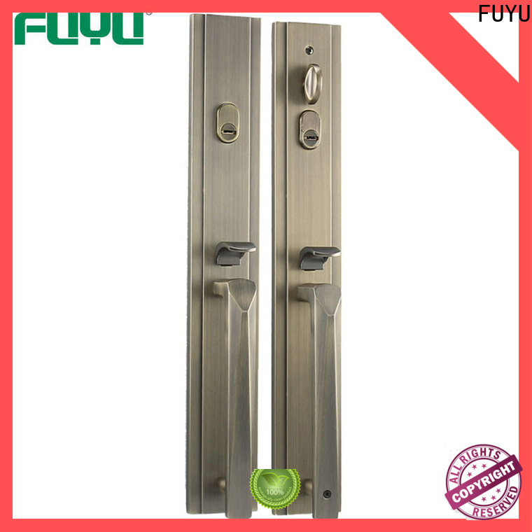 FUYU main zinc alloy grip handle door lock on sale for mall