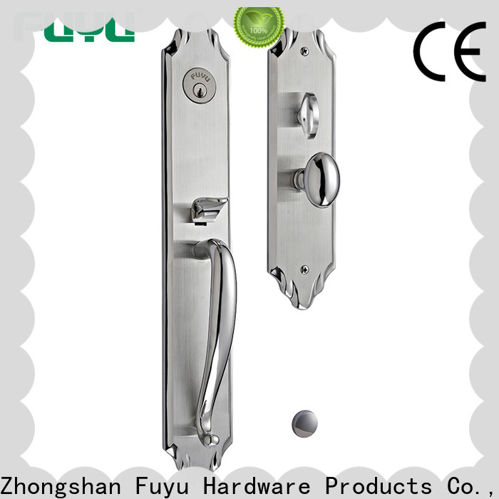 FUYU two stainless steel handle door locks extremely security for shop