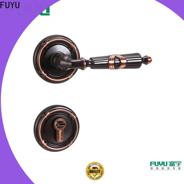 FUYU rose handle lock supplier for mall