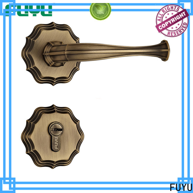 quality brass door knob with lock antipanic with latch for residential