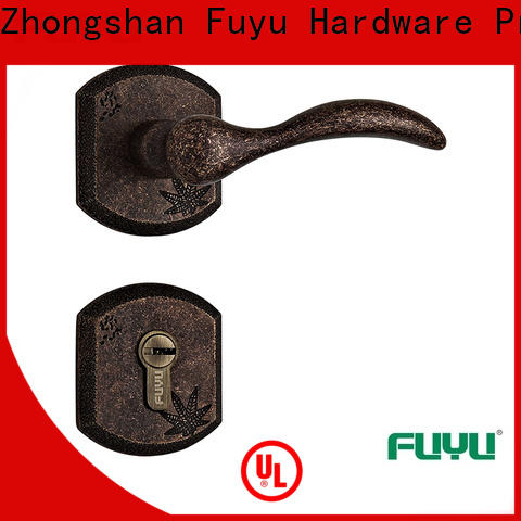 FUYU single brass mortice lock with latch for mall