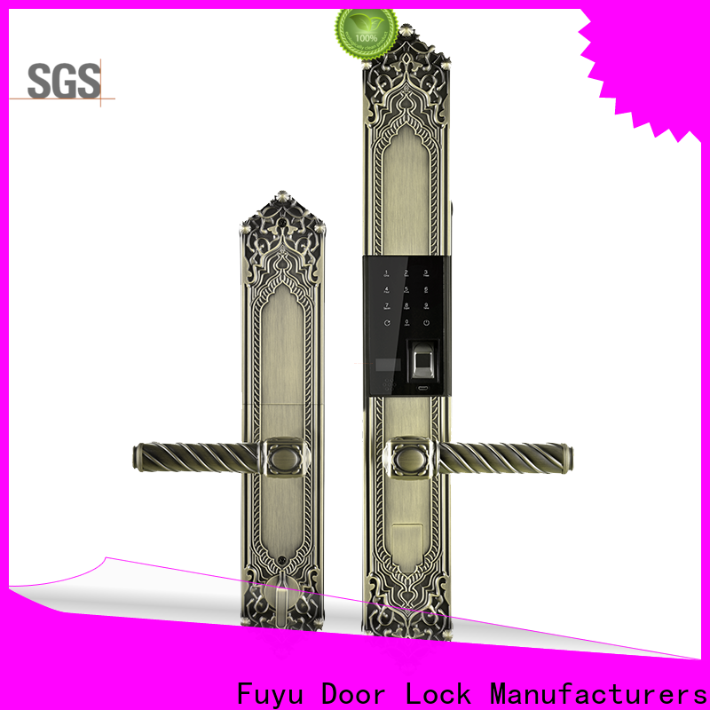 custom electronic front door lock extremely security for wooden door