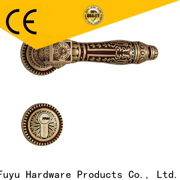 FUYU gold door handles supplier for wooden door