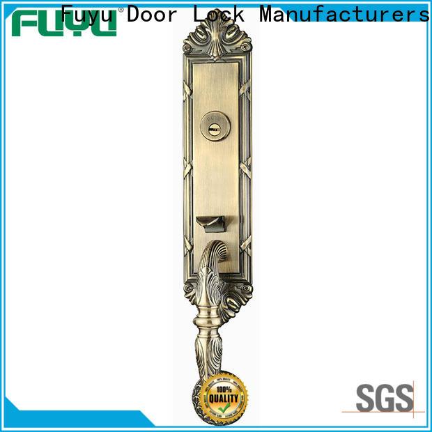 FUYU oem customized zinc alloy door lock with latch for entry door