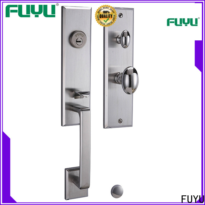 FUYU complete stainless steel security door lock with international standard for shop