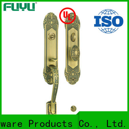 FUYU install customized brass door lock on sale for shop