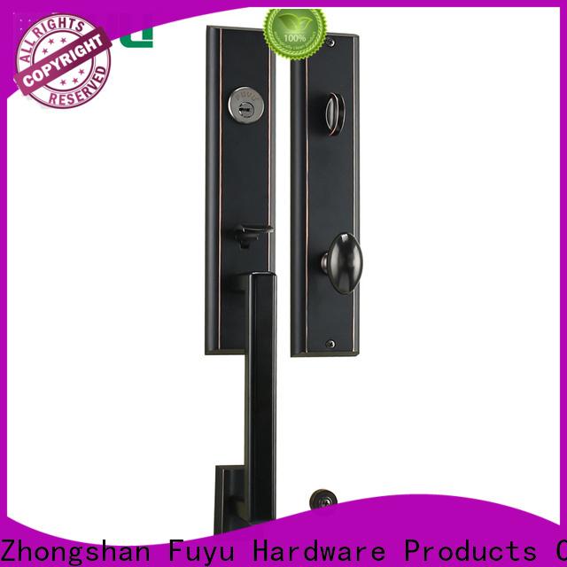 FUYU turn door lock design with latch for shop