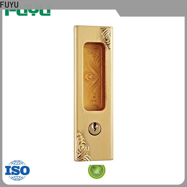 FUYU oem zinc alloy entrance door lock with latch for entry door