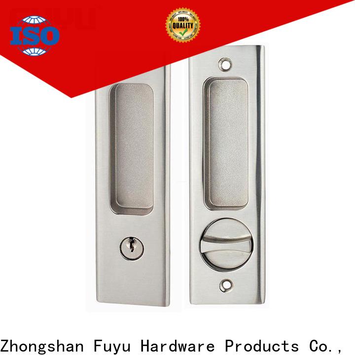 FUYU oem sliding door locks and handles manufacturer for mall