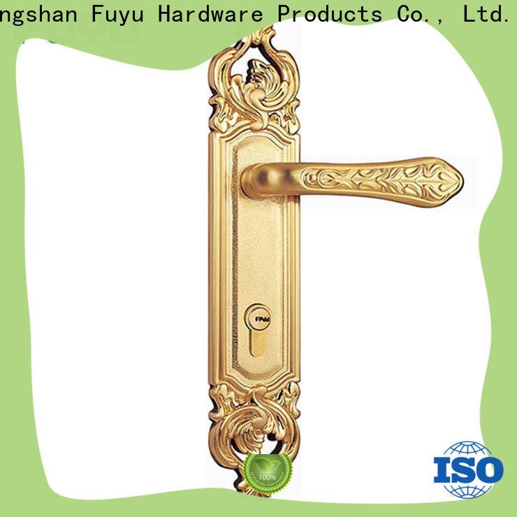 FUYU key zinc alloy mortise handle door lock with latch for shop