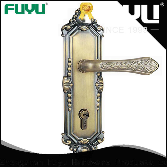 custom panel lever handle door lock with international standard for shop