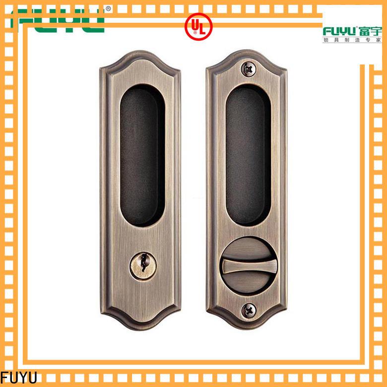 FUYU zinc zinc alloy lock with latch for indoor