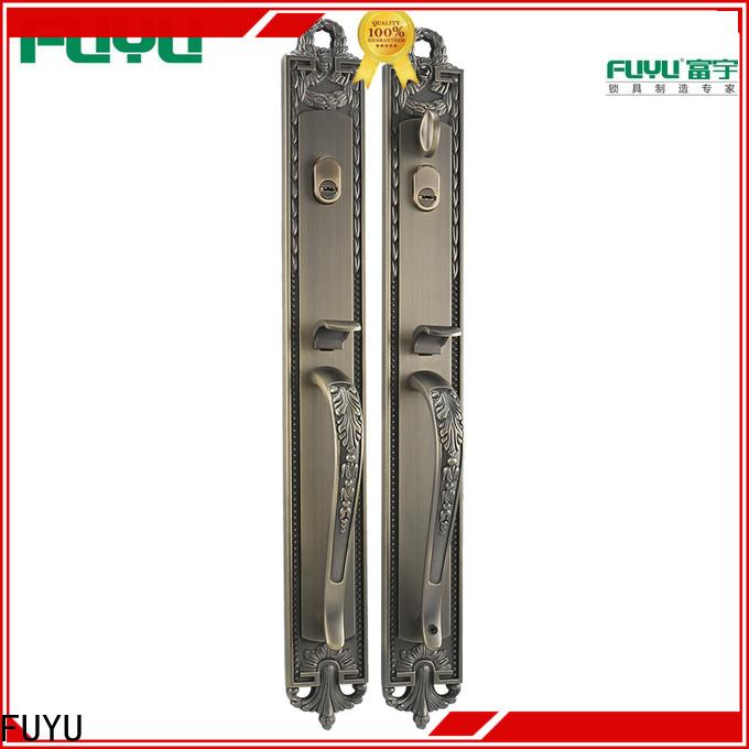 FUYU zinc zinc alloy villa door lock with latch for indoor