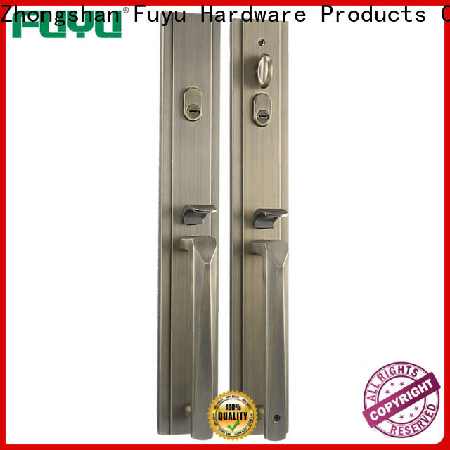 FUYU high security zinc alloy handle door lock with latch for shop