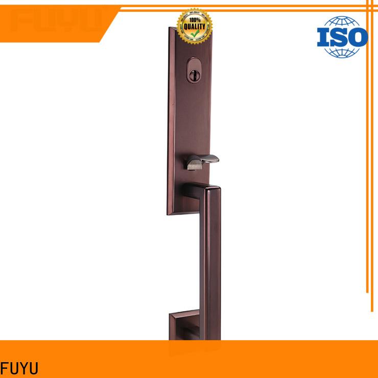 FUYU oem grip handle door lock for sale for wooden door