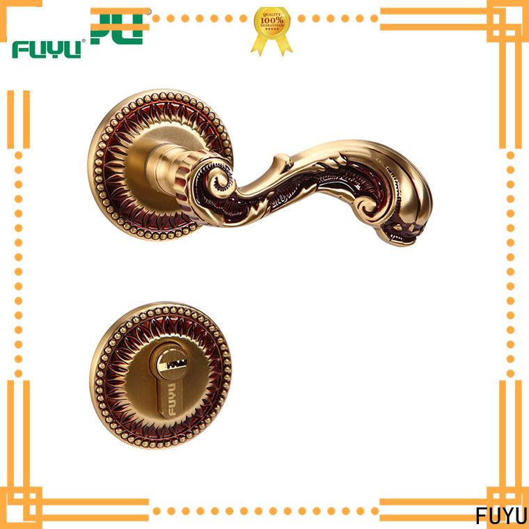 FUYU oem customized brass door lock meet your demands for wooden door