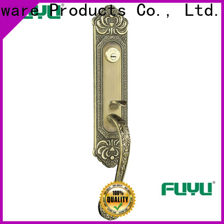 custom zinc alloy lock external with latch for mall