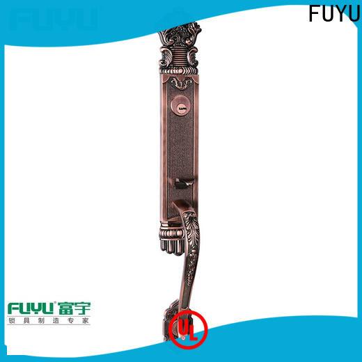 FUYU entry zinc alloy door lock for wooden door with latch for entry door