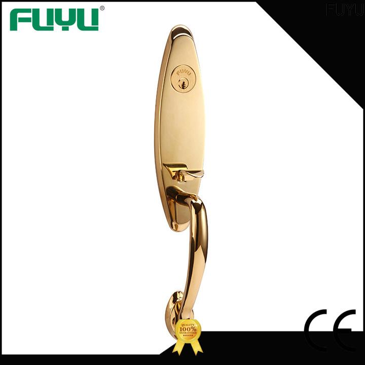 FUYU door brass front door locks with latch for residential