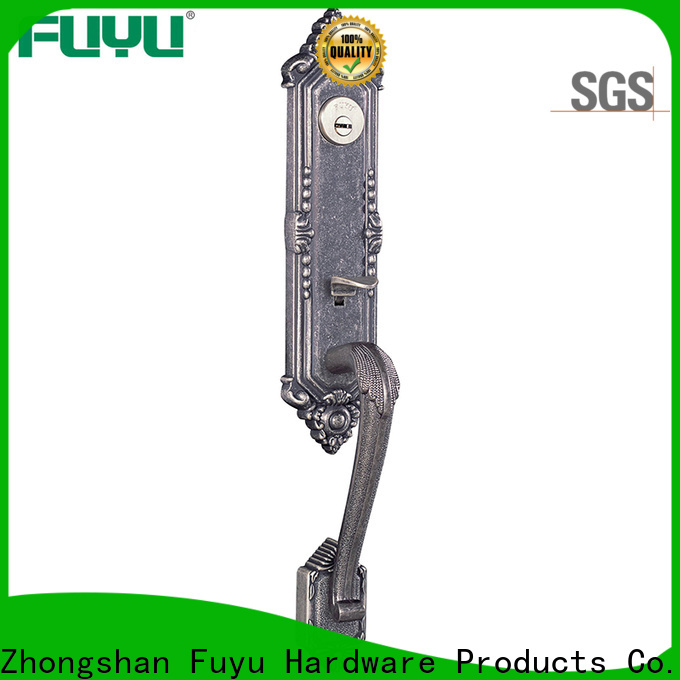 FUYU oem customized zinc alloy door lock with latch for mall
