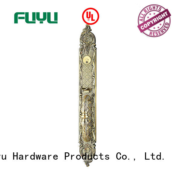FUYU quality zinc alloy handle door lock on sale for mall