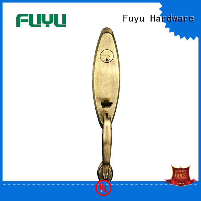 FUYU high security door handle lock solid for mall