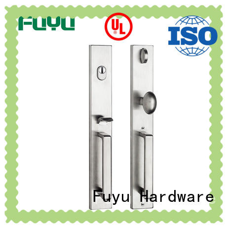 FUYU stronge stainless steel lock entrance for shop