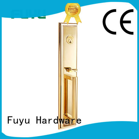 Dubai Plain Style Easy To Install Gold Door Handle Locks