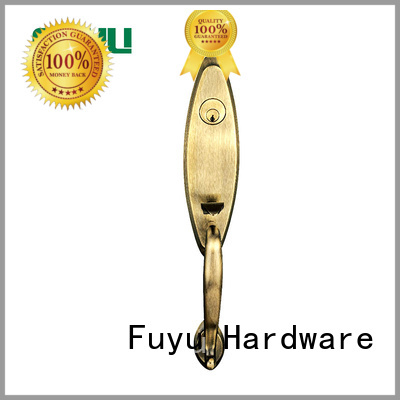 FUYU Brand security black zinc alloy villa door lock material