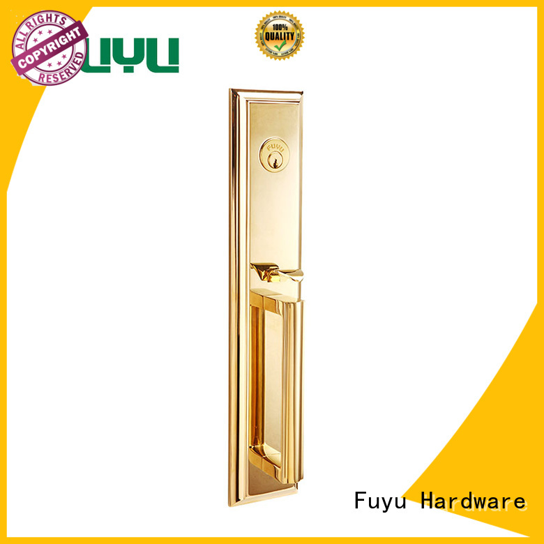 FUYU plain brass mortise lock install factory
