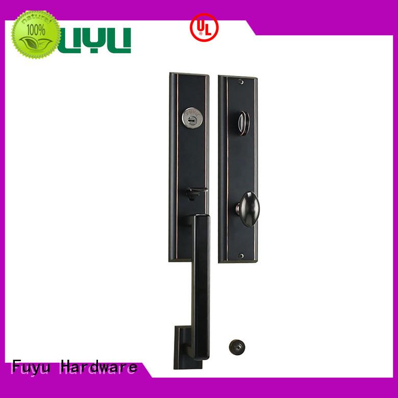 FUYU Brand external black handle color zinc alloy door lock