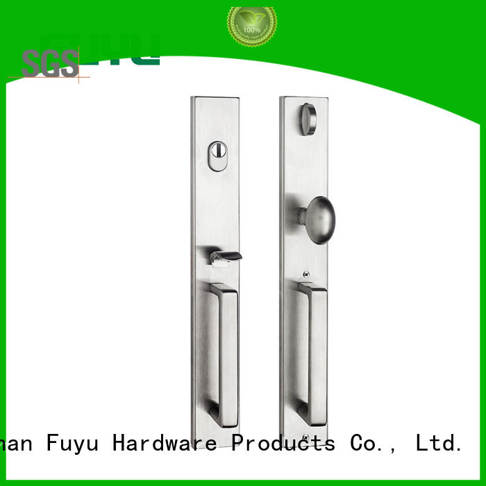 FUYU double stainless steel handle door locks extremely security for shop
