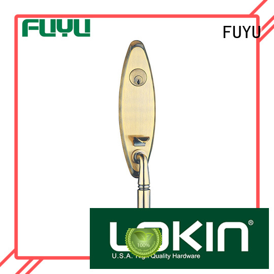 FUYU durable zinc alloy mortise door lock with latch for shop