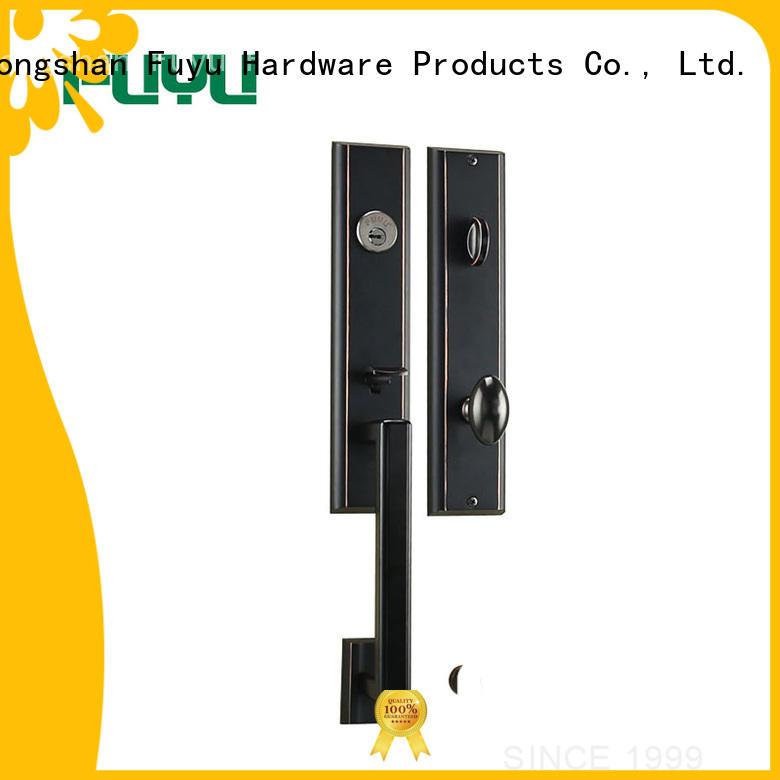 quality zinc alloy grip handle door lock on sale for mall FUYU