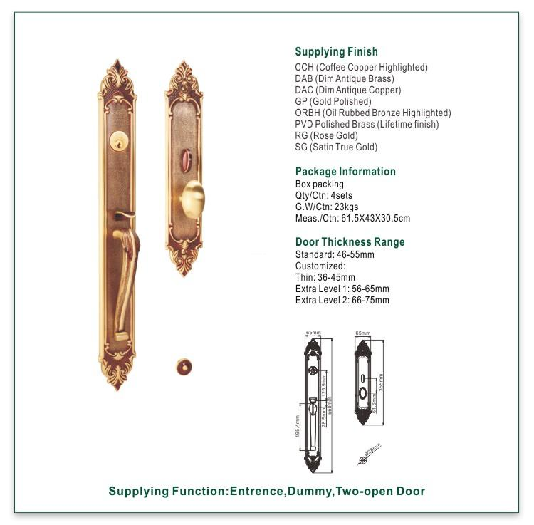 online brass door knob with lock brass on sale for wooden door-1