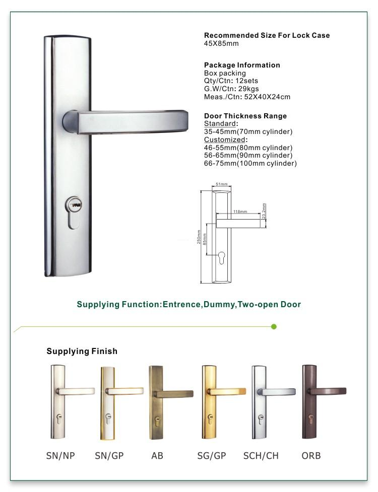 FUYU mechanism best home door locks with latch for entry door-1