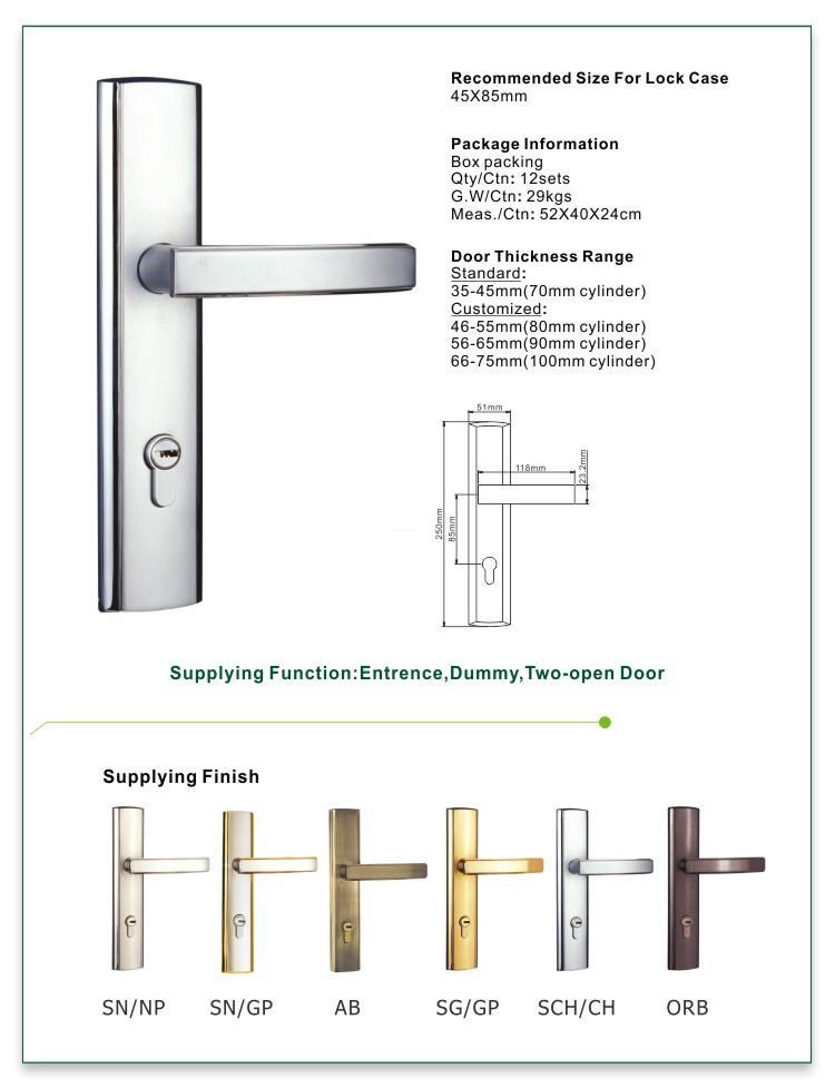 FUYU mechanism best home door locks with latch for entry door