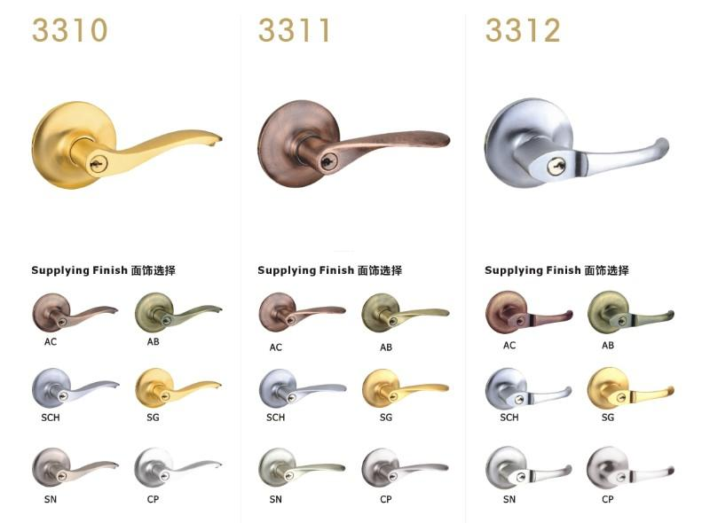 FUYU cylindrical lever locks with international standard for entry door-3
