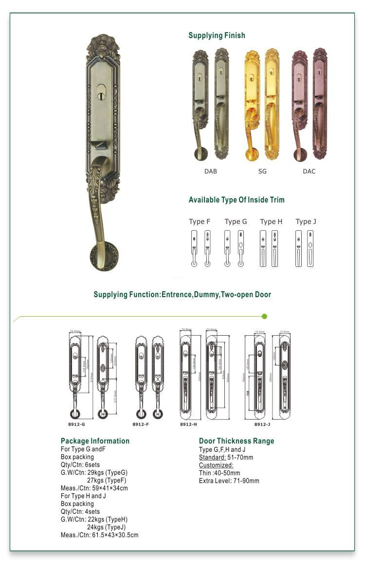 FUYU residence customized zinc alloy door lock meet your demands for mall