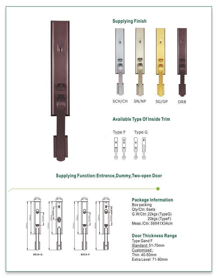 FUYU high security american door lock supplier for wooden door