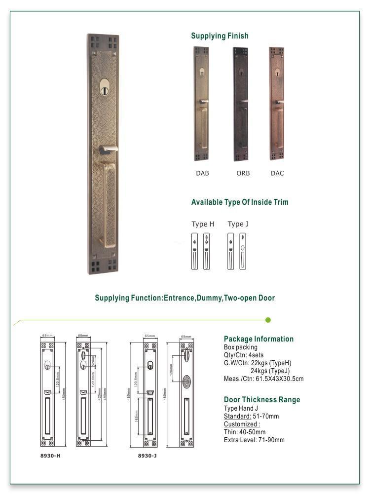 FUYU oem grip handle door lock manufacturer for entry door