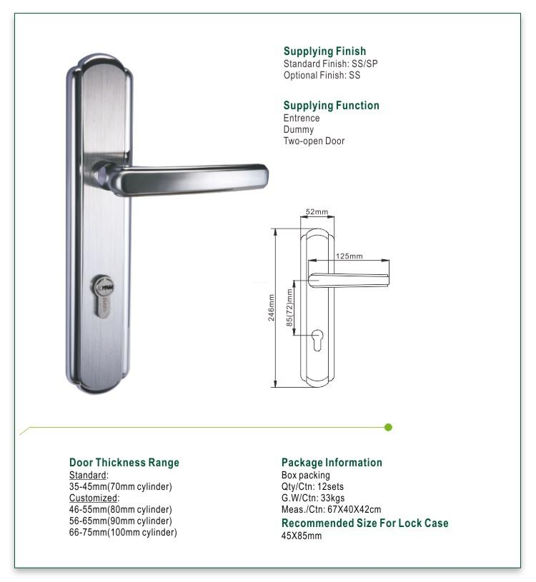 FUYU custom stainless door lock on sale for wooden door-1