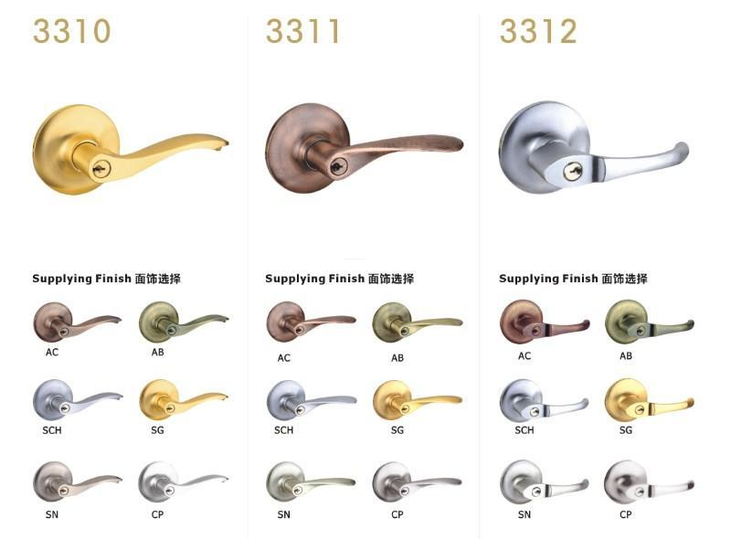 FUYU durable zinc alloy handle door lock meet your demands for shop-3