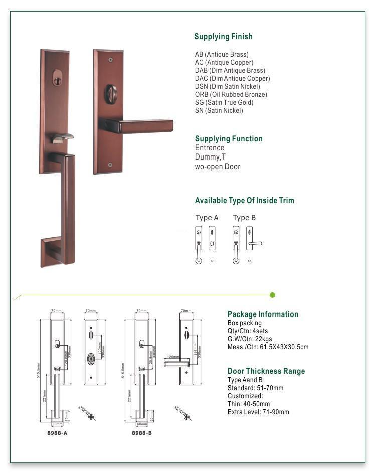 FUYU grip handle door lock manufacturer for shop-1